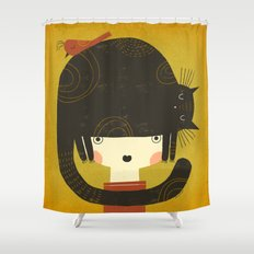 NAPPY HAT Shower Curtain