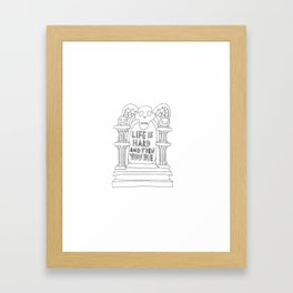 grandma's headstone Framed Art Print