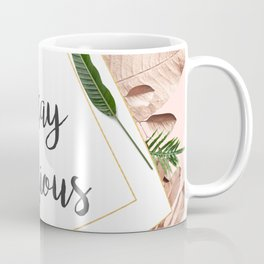 Stay curious floral and leaevs Coffee Mug