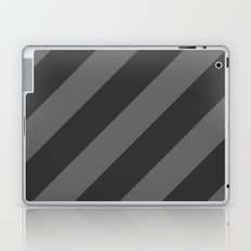 Stripes Diagonal Black & Gray Laptop & iPad Skin