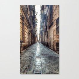 streets of barcelona Canvas Print