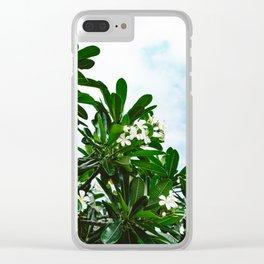 Hawaiian Blooms Clear iPhone Case