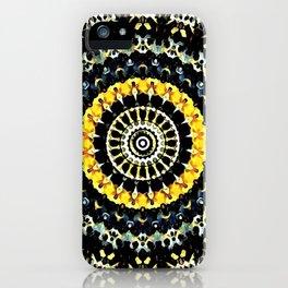 Mandala - Black and Yellow iPhone Case