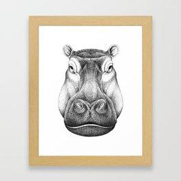 Hippopotamus Framed Art Print