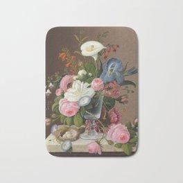 Severin Roesen - Early Summer Flowers In A Celery Glass Bath Mat