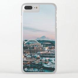 Seattle & Mount Rainier Clear iPhone Case