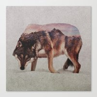 wolf Canvas Prints featuring Wolf by Andreas Lie