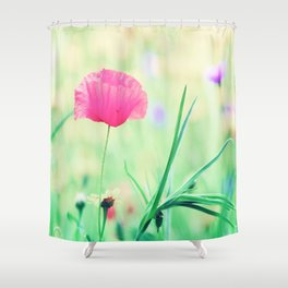 Poppy Romance Shower Curtain
