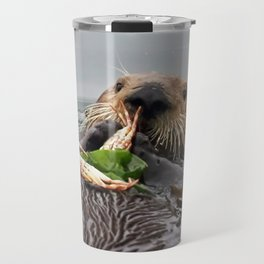 Sea Otter Crab Breakfast Travel Mug