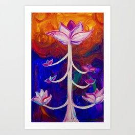 Lotus Rising Art Print