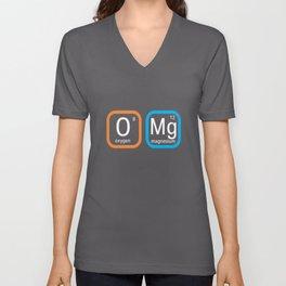 Top Fun Science Nerd OMG Periodic Table Gift Design Unisex V-Neck