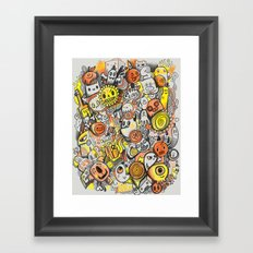 Pencil People Framed Art Print