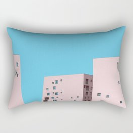 Millennial Pink City Rectangular Pillow