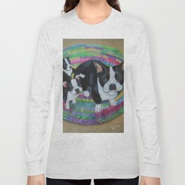 Boston Terrier and Puppies Long Sleeve T-shirt