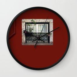 Wrought Iron Window Wall Clock