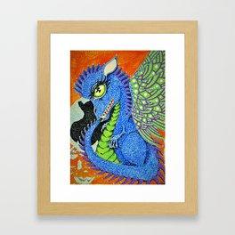 baby sparkle dragon Framed Art Print
