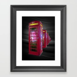 Space Beaming Boxes Framed Art Print