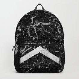 Arrows - Black Granite & White Marble #992 Backpack