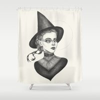 witchcraft Shower Curtains featuring Witchcraft by Caitlin McCarthy