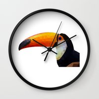 toucan Wall Clocks featuring Toucan by emegi