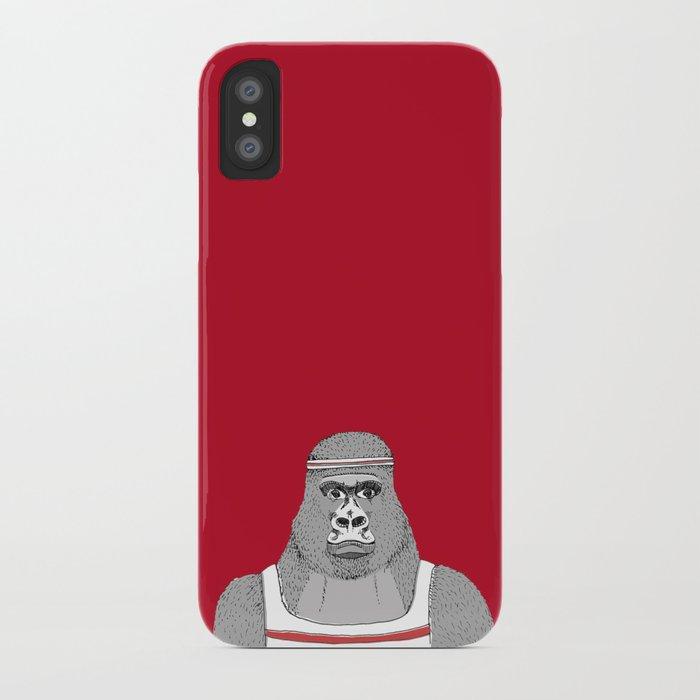 Gorillas love exercise iPhone Case