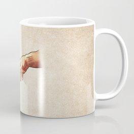 Funny 8bit Nerd & Geek Humor (Creation of Adam Parody) Coffee Mug