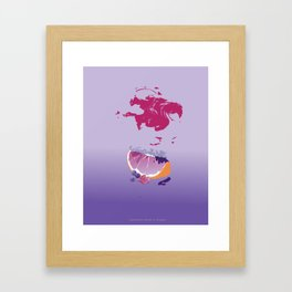 sences tangerine jelly purple Framed Art Print