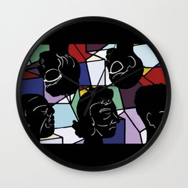 """""""In Our Heads"""" by Virginia McCarthy Wall Clock"""