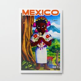 Vintage Mexico Travel Ad - Child Metal Print