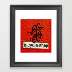 Bicycle Shop Framed Art Print