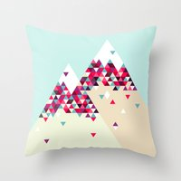 twin peaks Throw Pillows featuring Twin Peaks by Attitude Creative