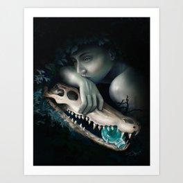 Crocodile Tears Art Print