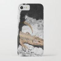 lizard iPhone & iPod Cases featuring Lizard by Anja Kidrič AdAk