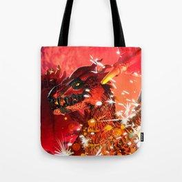 Fire Dragon Tote Bag