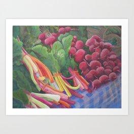 Farmers Market Chard Art Print
