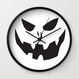 Creepy Jack-o-lantern Wall Clock