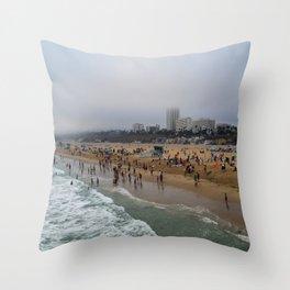 Santa Monica . Throw Pillow