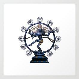 Shiva Nataraj, Lord of Dance (an actual factual fractal) Art Print