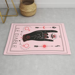 Le Diable or The Devil Tarot Rug