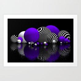 pebble bed -violet- Kunstdrucke
