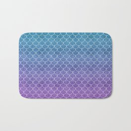 Mermaid Scales in Cotton Candy Bath Mat