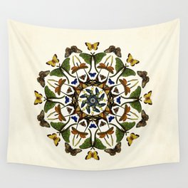 Kaleidoscope with Wings Wall Tapestry
