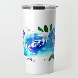 Three Blue Christchurch Roses Travel Mug