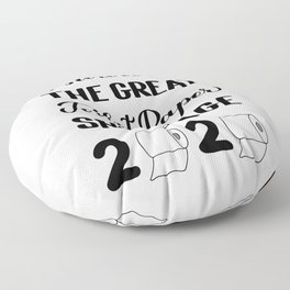 I survived the great toilet paper shortage of 2020 calligraphy hand lettering.  Floor Pillow