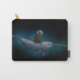 Cat Riding a Narwhal Carry-All Pouch