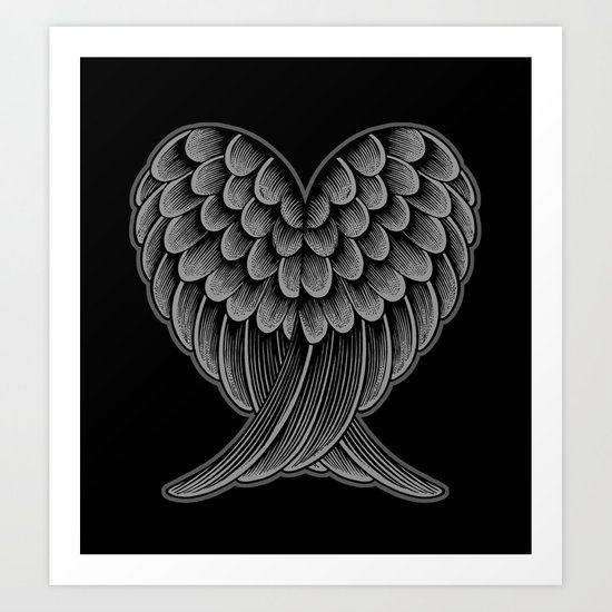 Heart Wings [Reversed Version] Art Print