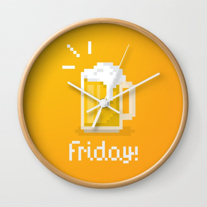 Pixel Friday Wall Clock