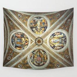 """Raffaello Sanzio da Urbino """"Ceiling of the Stanza della Segnatura"""", 1508-1511 Wall Tapestry"""