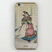 korean iPhone & iPod Skins featuring Korean Bride 1952 by Nancy Smith