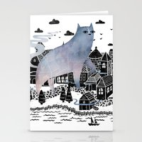 fog Stationery Cards featuring The Fog by littleclyde